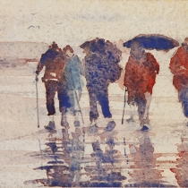 Brollies on the beach