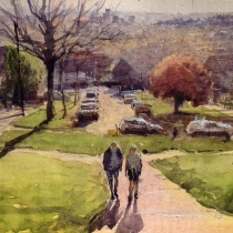 Painted from Castle Wood drive looking over London