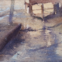 Boats in the mud